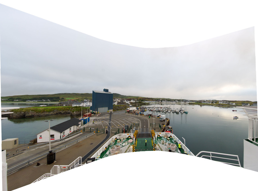 Port Ellen as a wrap around screen